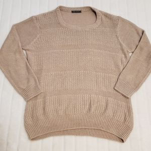 BOGO Free🦋 Suzy Shier Tan and Pink Knit Sweater
